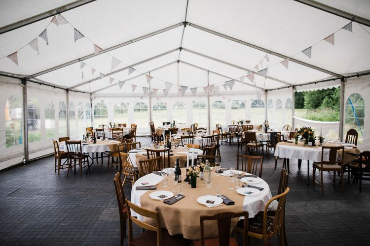 Marquee Reception | Woodland Wedding in Oslo, Norway | Through The Woods We Ran