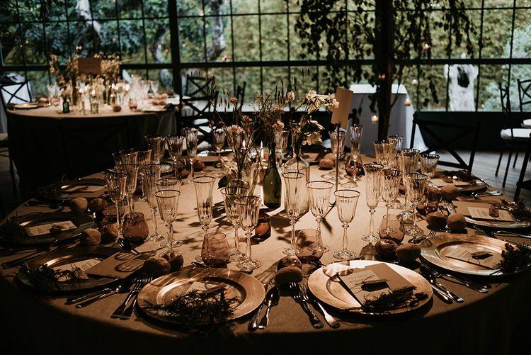 Tablescape | Authentic Spanish Wedding at Masia Ribas, Barcelona | Sara Lobla Photography