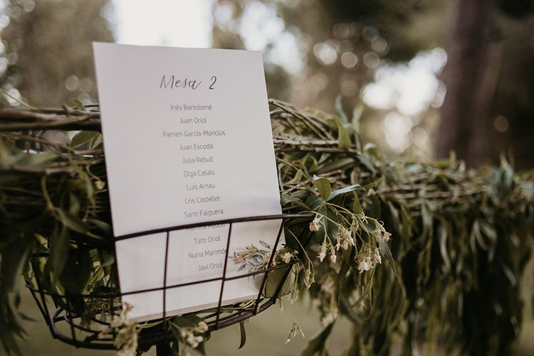 Table Plan Wedding Stationery | Authentic Spanish Wedding at Masia Ribas, Barcelona | Sara Lobla Photography