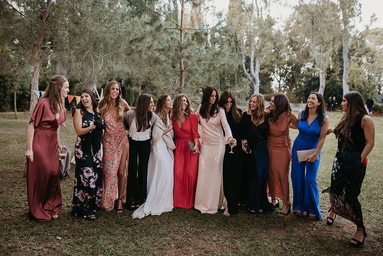 Bridal Party  | Bride in Simple & Elegant Teresa Helbig Wedding Dress | Authentic Spanish Wedding at Masia Ribas, Barcelona | Sara Lobla Photography