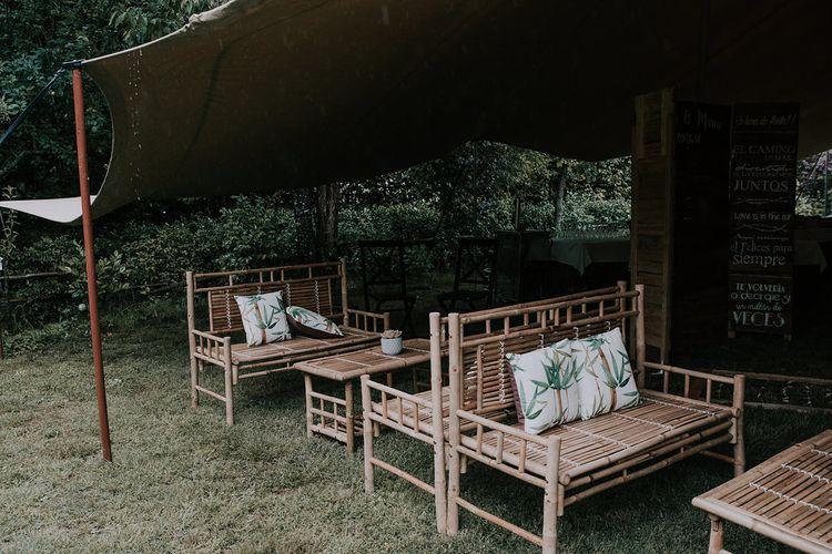 Bamboo Furniture For Destination Wedding In Spain With Planning From El Mono Con Sombrero With Images By AHR Photos Spanish Wedding Photography