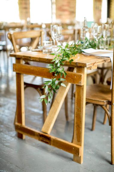 Greenery Table Runner for Wooden Tablescape