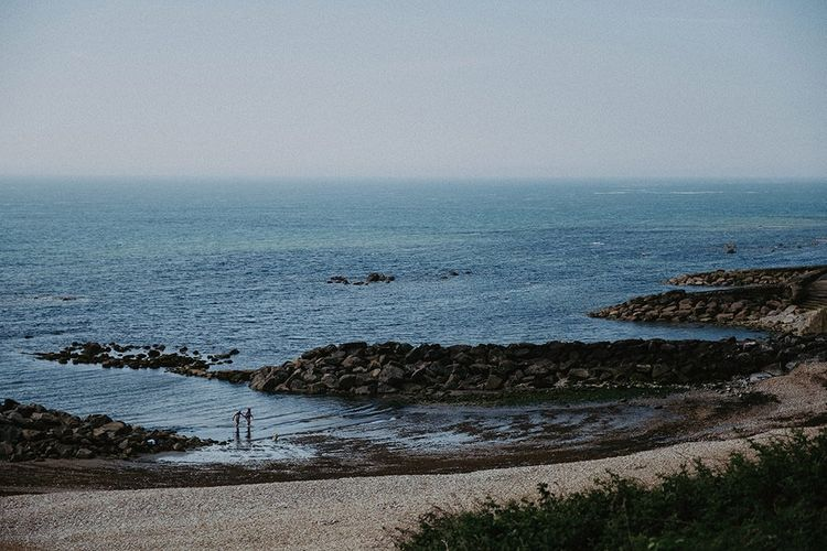 Views at summer English country wedding in the Isle of Wight