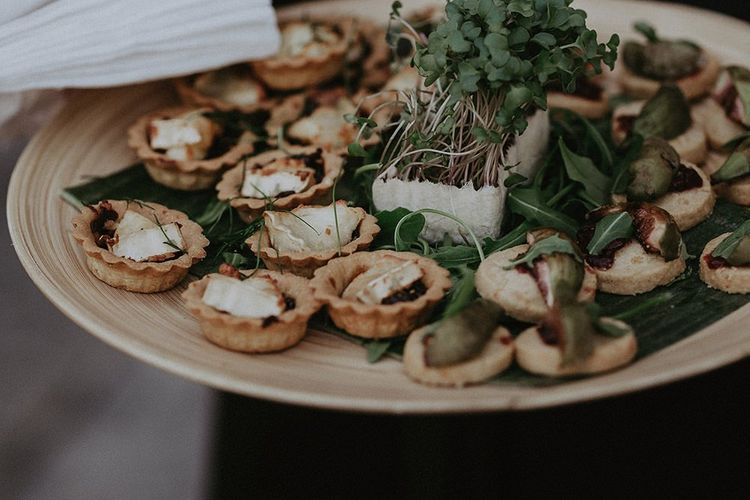 Canapes at Isle of Wight summer wedding reception