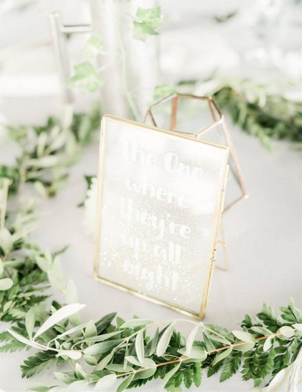 Wedding Table Names in Gold Frames