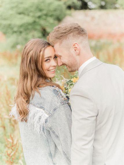 Bride In Denim Jacket Coverup