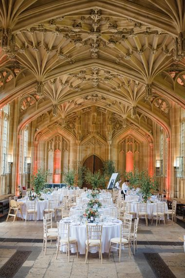 Oxford Bodleian Library Wedding Reception with  Botanical Plants