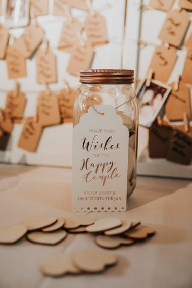 Leave your wish for the happy couple jar