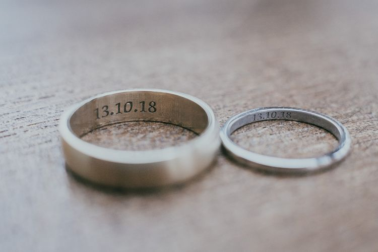 Wedding Date Engraved Wedding Bands