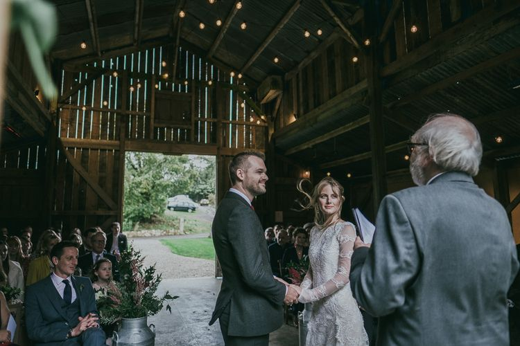 Wedding Ceremony at Nancarrow Farm Barn