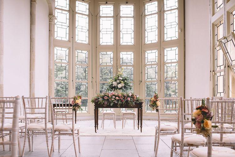 Wedding Ceremony Room at Highcliffe Castle in Dorset