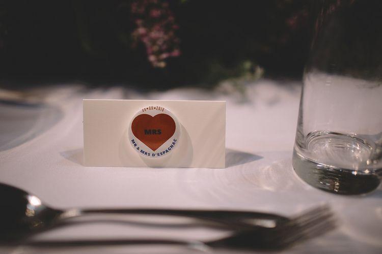 Personalised Wedding Badges