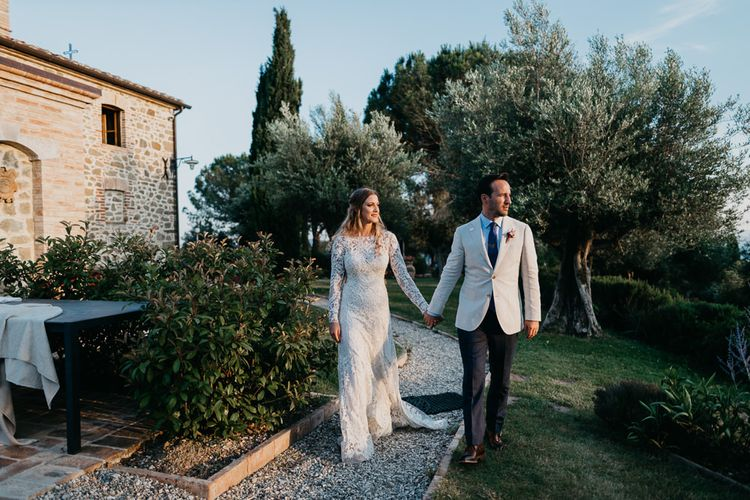 West End Musical Bride and Groom at their Wedding in Umbria