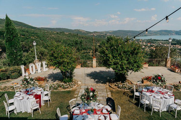 Outdoor Wedding in Umbria, Italy