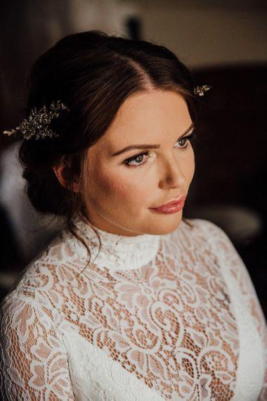 Bride wearing Karen Willis Holmes Bridal