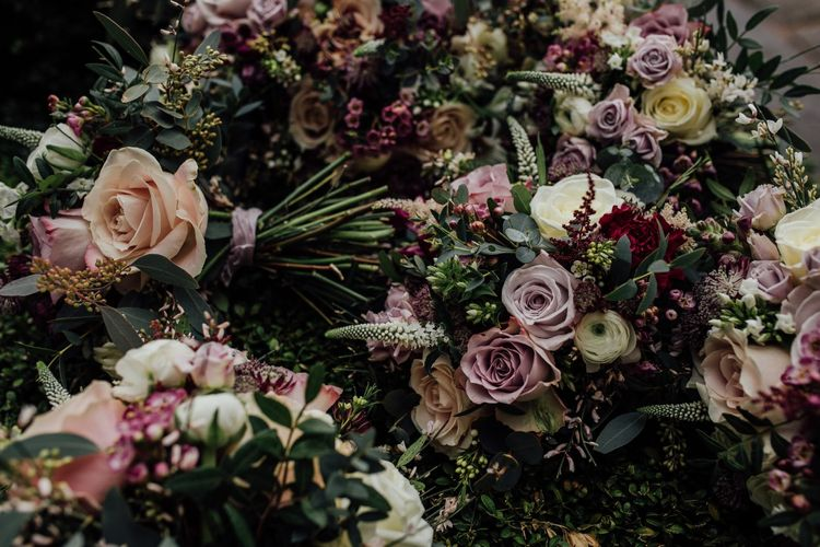 Dusky winter florals by  Issy and Bella Floral Design