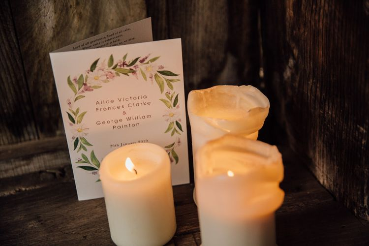 Papier stationery and candles