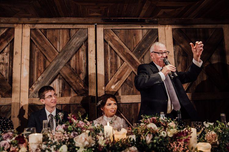 Speeches at wedding
