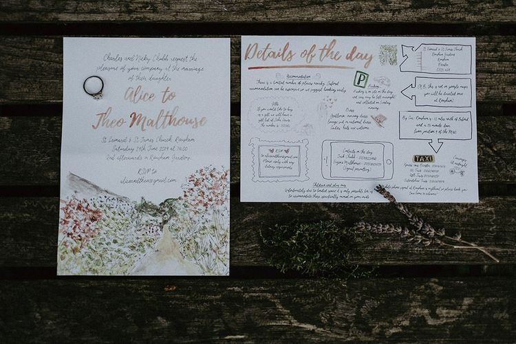 Wedding Stationery And Order of The Day