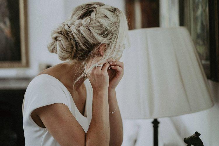 Bridal Hair Fishtail Braid Hair Up