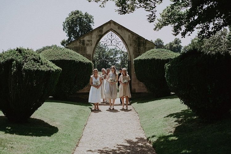 Bridesmaids Arriving At The Church for Ceremony
