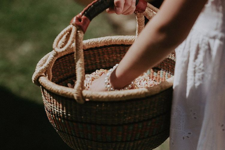 Confetti In Basket Ready To Hand Out