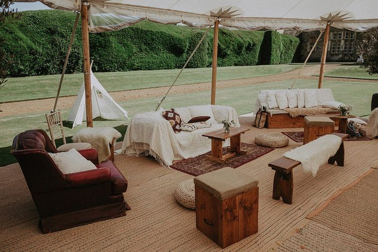 Seating Area For Marquee Wedding