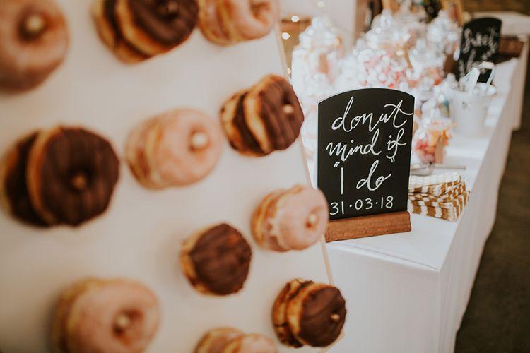 Donut Mind If I Do Wedding Sign for Doughnut Wall
