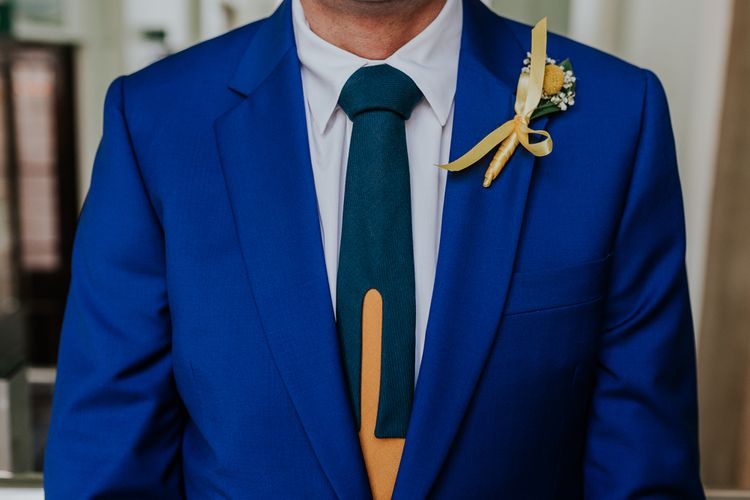 Groom in Blue Paul Smith Suit & Ian Scott Kettle | Stylish Intimate London Elopement at Islington Town Hall & The Elk in the Woods | Joasis Photography