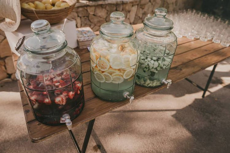 Wedding drinks for guests at Mallorca wedding