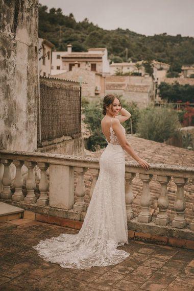 Open back lace detail Emmy Mae wedding dress