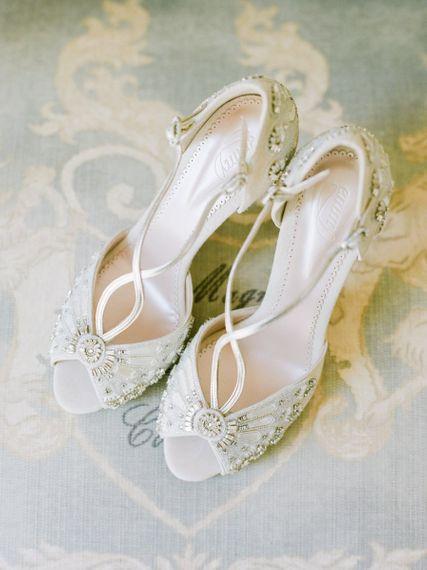 Emmy London Peep Toe Wedding Shoes