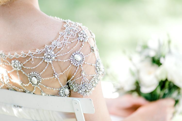 Beaded Marchesa Wedding Dress