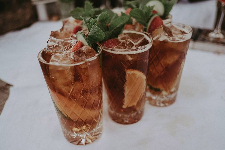 Glasses of Pimms