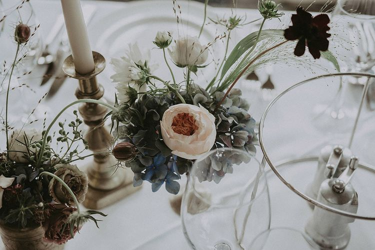 Floral Table Decor with Blush Pink Peony