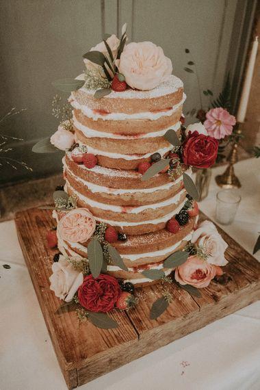 Three-Tier Victoria Sponge Naked Wedding Cake