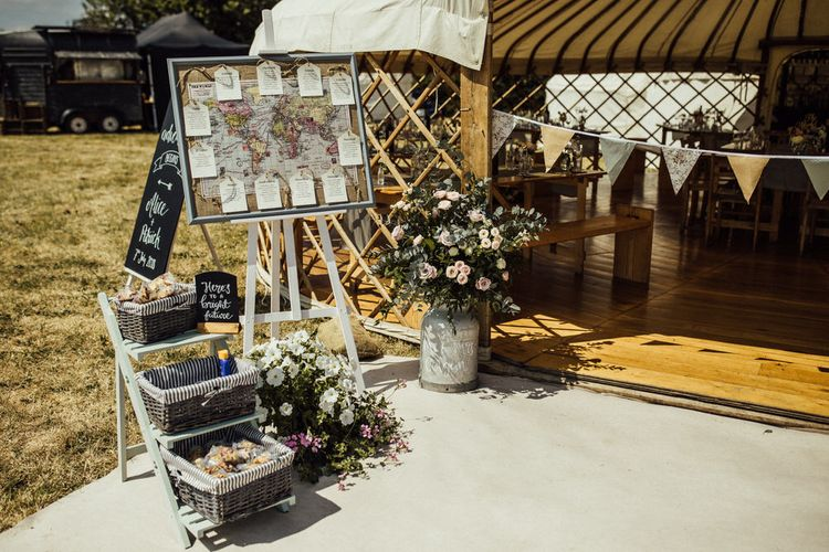 Map Table Plan For Wedding // Yurt Wedding With Outdoor Humanist Ceremony Bride In Jenny Packham And Groom In Top Hat With Images From Michelle Wood Photographer