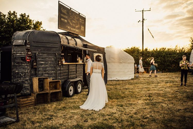 Yurt Wedding With Outdoor Humanist Ceremony Bride In Jenny Packham And Groom In Top Hat With Images From Michelle Wood Photographer