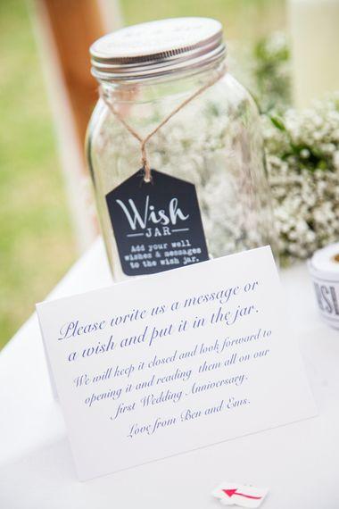Alternative Guest Book for Your Wedding Day | Wedding Wish Jar Guest Book | Natasha Cadman Photography