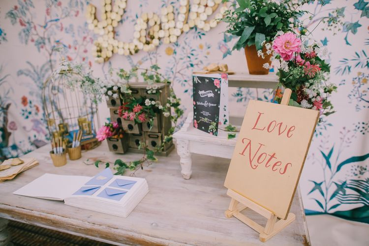 Alternative Guest Book for Your Wedding Day | Love Notes | Chris Barber Photography