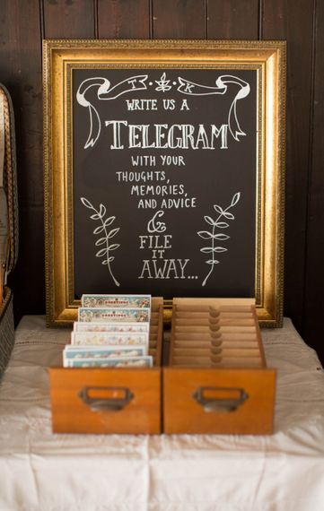 Alternative Guest Book for Your Wedding Day | Telegrams | Glory Days Vintage Photography