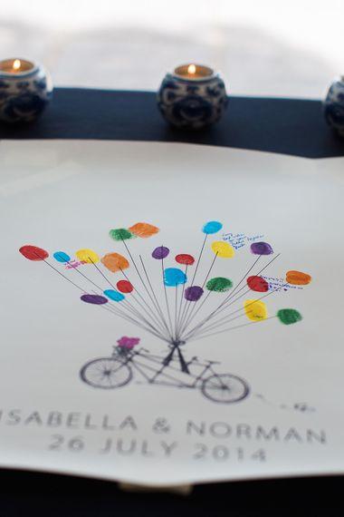 Alternative Guest Book for Your Wedding Day | Fingerprint Guest Book | Samantha Ward Photography