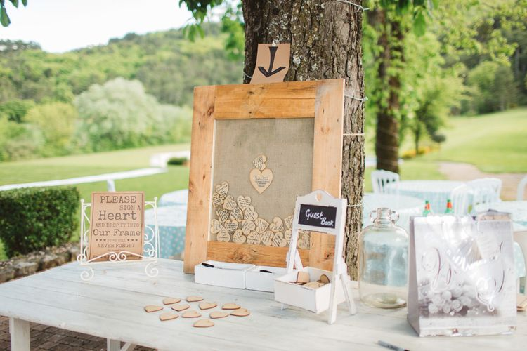 Alternative Guest Book for Your Wedding Day | Wooden Heart Box | Frances Sales Photography