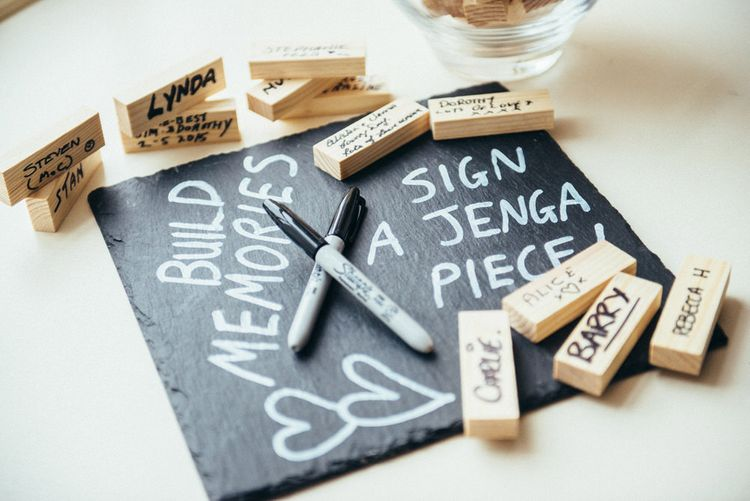 Alternative Guest Book for Your Wedding Day | Jenga Blocks Guest Books | Donna Murray Photography