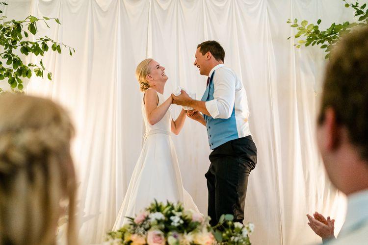 Speeches | Bride in Caroline Castigliano Wedding Dress | Groom in Henry Herbert Tailors Morning Suit | Traditional Green/Blue Danish Wedding at Scandinavian Country House, Jomfruens Egede in Faxe, Denmark | John Barwood Photography