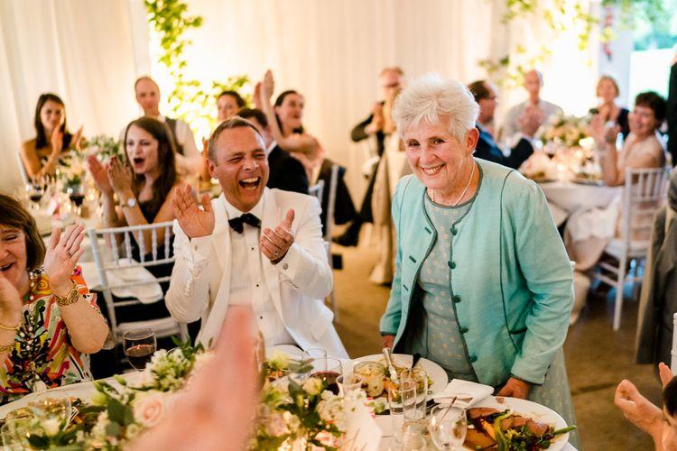 Evening Guests | Traditional Green/Blue Danish Wedding at Scandinavian Country House, Jomfruens Egede in Faxe, Denmark | John Barwood Photography