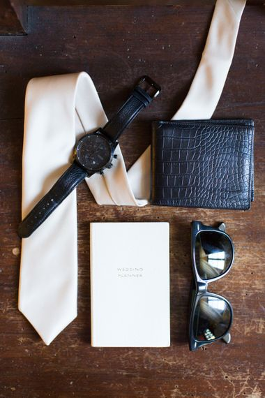 Groomsmen Accessories: Tie, Watch, Wallet, Sunglasses  | Four Day Italian Destination Wedding at Frattoria Mansi Bernadini Planned by Weddings by Emily Charlotte | Cecelina Photography