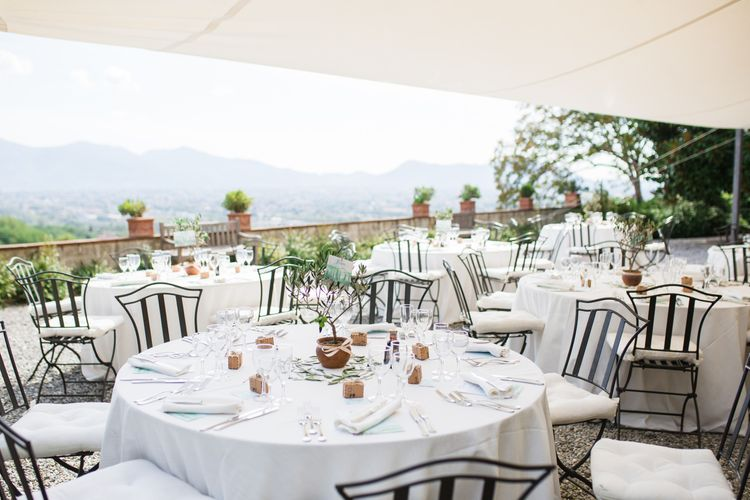 Outdoor Wedding Reception | Four Day Italian Destination Wedding at Frattoria Mansi Bernadini Planned by Weddings by Emily Charlotte | Cecelina Photography