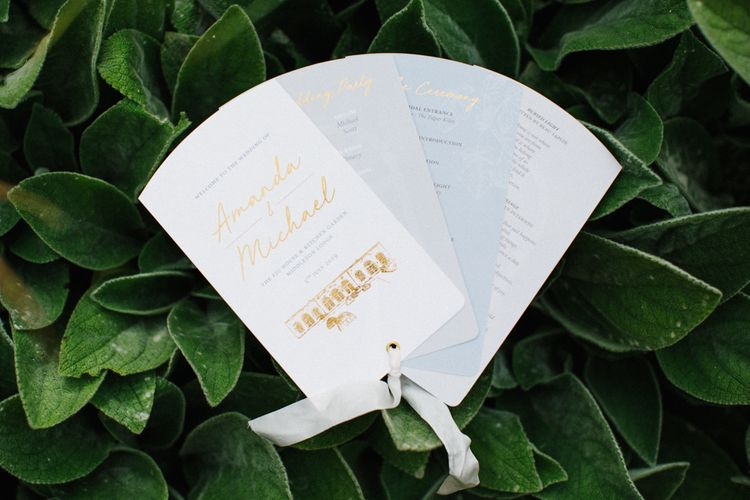 Fan Wedding Invitation Designed by Amanda Michelle Design & Stationery