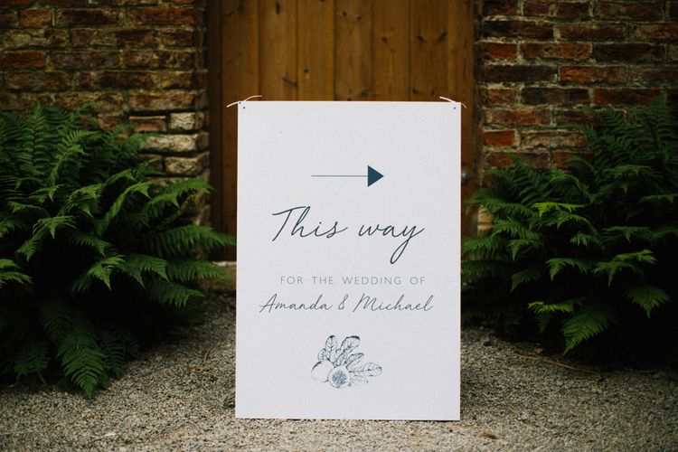 This Way Wedding Welcome Sign